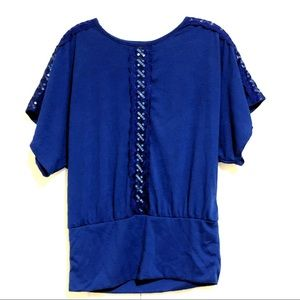 Rue 21 Short Sleeved Top Size Small
